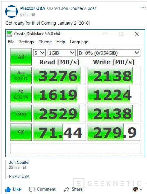 Plextor quiere poner en aprietos a los Samsung 960 con su SSD NVMe M9Pe, Imagen 1