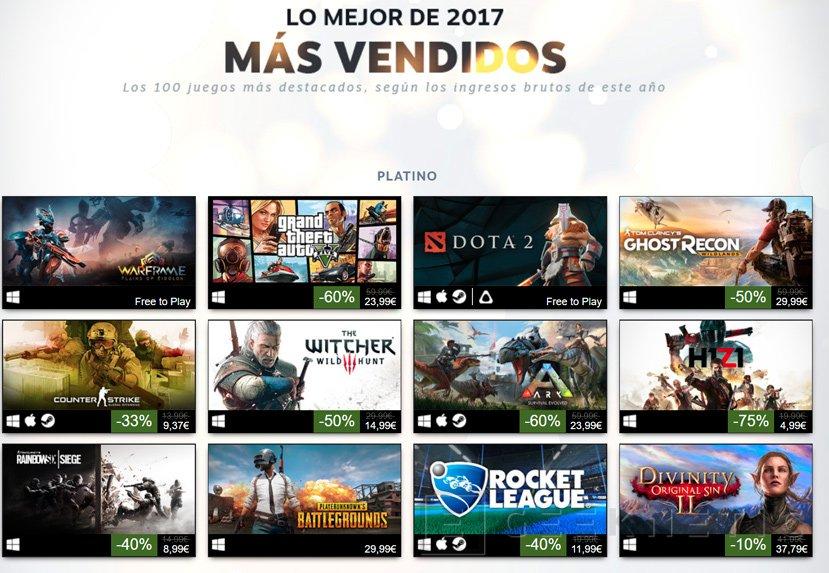 Estos son los juegos más vendidos en Steam durante el 2017, Imagen 1