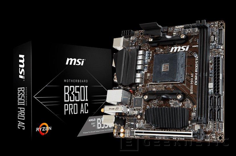 MSI lanza la placa Mini-ITX B350I Pro AC para AMD RYZEN, Imagen 1