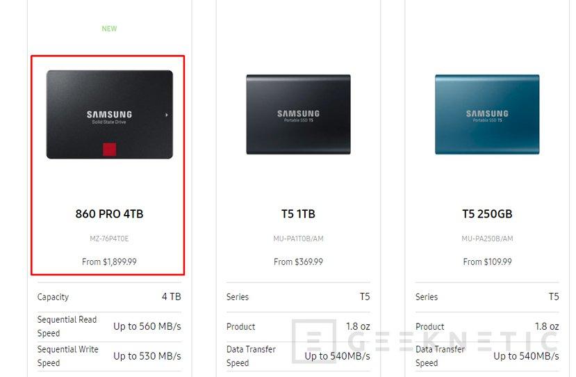 El nuevo SSD Samsung 860 Pro alcanza los 4 TB, Imagen 1
