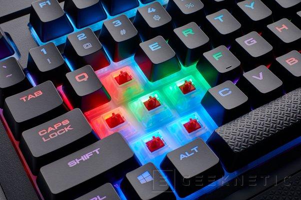 El resistente teclado mecánico Corsair K68 recibe iluminación RGB, Imagen 1