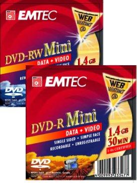 DVD de 8 centímetros de Emtec, Imagen 1
