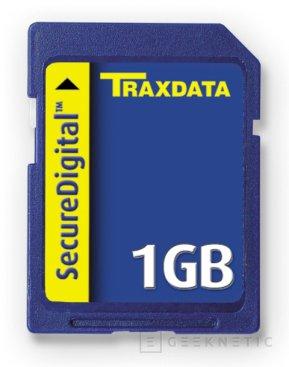 Traxdata lanza sus tarjetas SecureDigital de 1 GB, Imagen 1