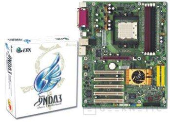 EP-9NDA3+ es el nombre de la primera placa base de EPoX preparada para los 939, Imagen 1