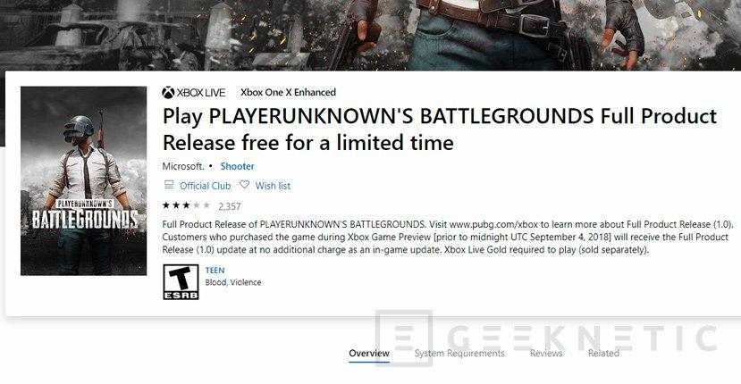 Pubg Gratis Para Xbox One Por Tiempo Limitado