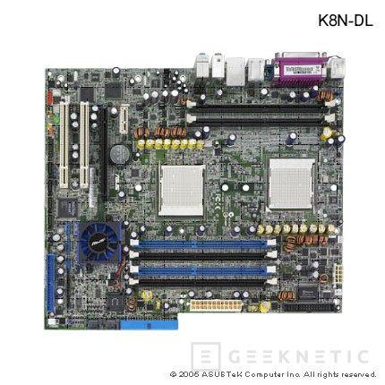 ASUS K8N-DL tecnología dual Opteron, Imagen 1