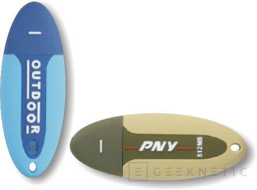 PNY recubre sus pendrives de hasta 1 GB con una gruesa capa de goma, Imagen 1