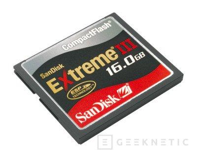 Sandisk comercializa memorias CF de 16GB de alta velocidad, Imagen 1