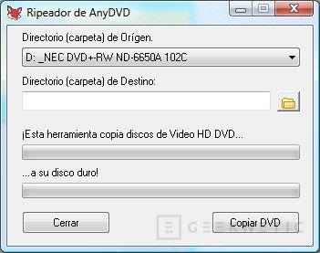 SlySoft lanza el primer programa comercial para copiar HD-DVD, Imagen 1