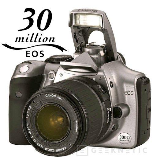 Canon supera los 30 millones de cámaras Reflex EOS vendidas, Imagen 1