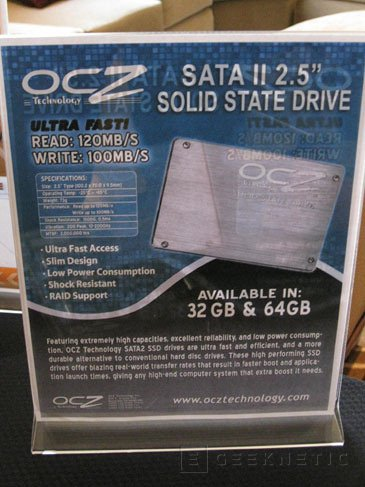 CES 2008: OCZ presenta sus primeros discos SSD, Imagen 1