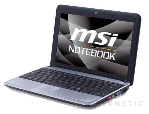 MSI prepara el primer Netbook con almacenamiento hibrido, Imagen 1