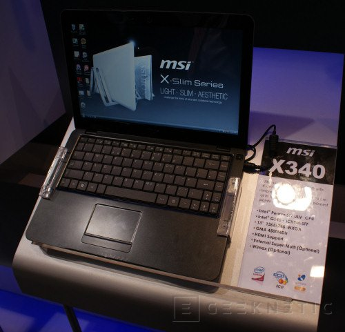 Cebit 2009: MSI Ataca al MacBook Air con la serie X, Imagen 2