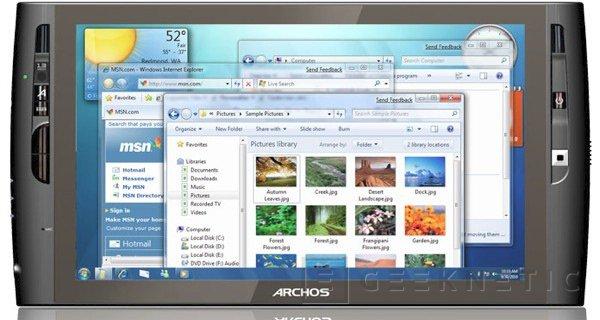 Archos presenta un nuevo UMPC con Windows 7, Imagen 1