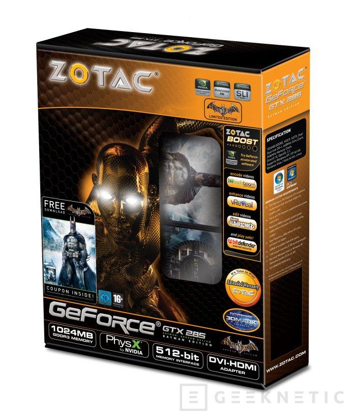 """Zotac lanza su nueva GTX 285 """"Batman Edition"""", Imagen 1"""