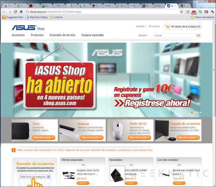 ASUS abre tienda online en España, Imagen 1