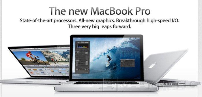 Apple actualiza la gama MacBook Pro, Imagen 1