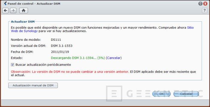 La DSM 3.1 de Synology ya es definitiva y oficial, Imagen 1