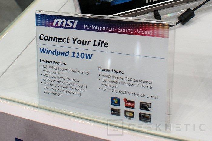 CeBit 2011: Fusion en la nueva Tablet 110W de MSI, Imagen 2
