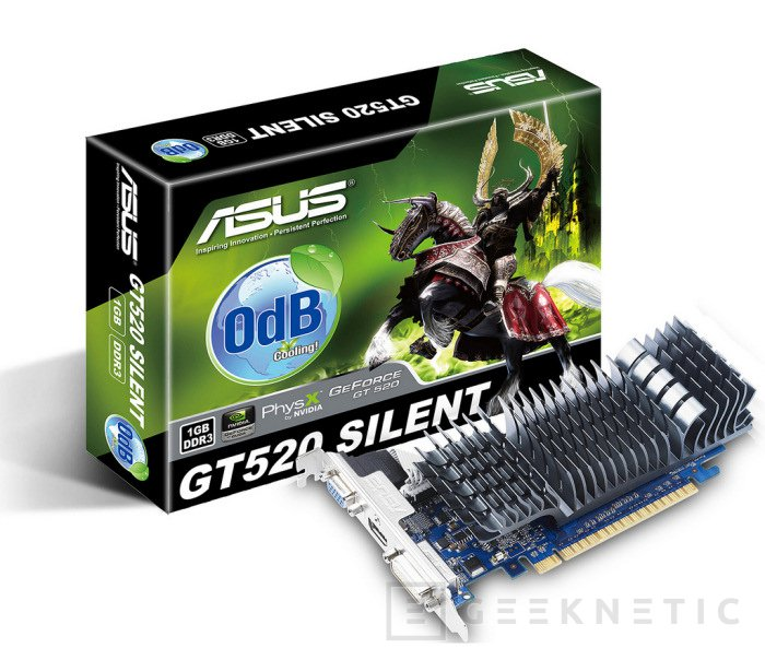 La Geforce GT 520 de ASUS es pasiva, Imagen 1
