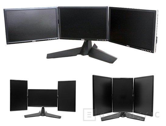 XFX presenta un soporte para sistemas Eyefinity de 3 monitores, Imagen 1