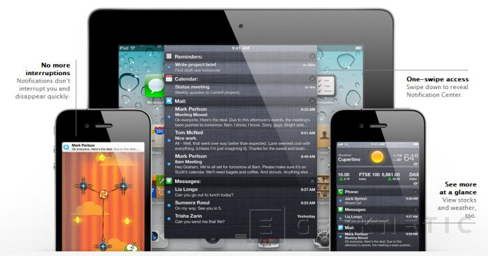 Apple introduce iOS 5, Imagen 1