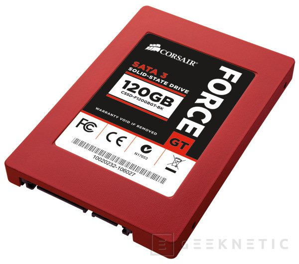 Corsair presenta los nuevos Force Series GT SSD, Imagen 1