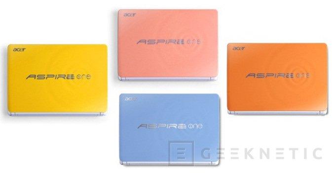 Acer apuesta por el colorido en sus nuevos Aspire One Happy, Imagen 1