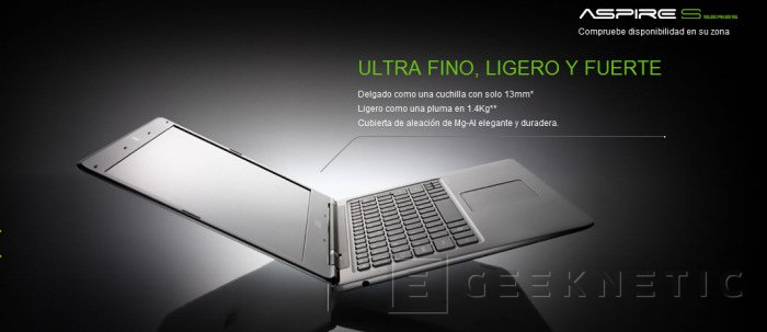 Nuevo Ultrabook Acer S3, Imagen 1