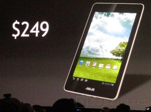 """CES 2012: Tablet Tegra 3 de 7"""" de ASUS, Imagen 1"""