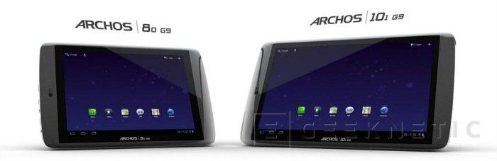 Archos pone Android 4.0 ICS en sus G9, Imagen 1