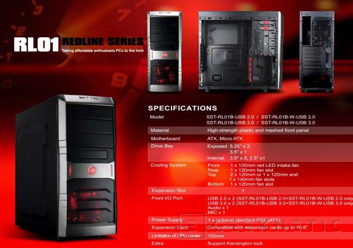 CeBit 2012. Silverstone presenta la nueva RedLine Series, Imagen 1