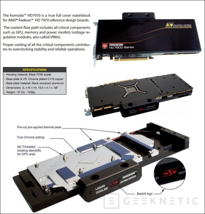 Swiftech presenta nuevos bloques, con puente Crossfire, para Radeon 7900, Imagen 1