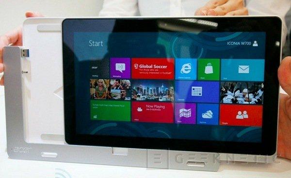Computex 2012. Acer. Iconia W510 y W700, Imagen 1