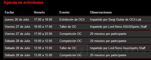 ASUS ofrecerá talleres y demostraciones de Overclock  en la Euskal Encounter 20, Imagen 2