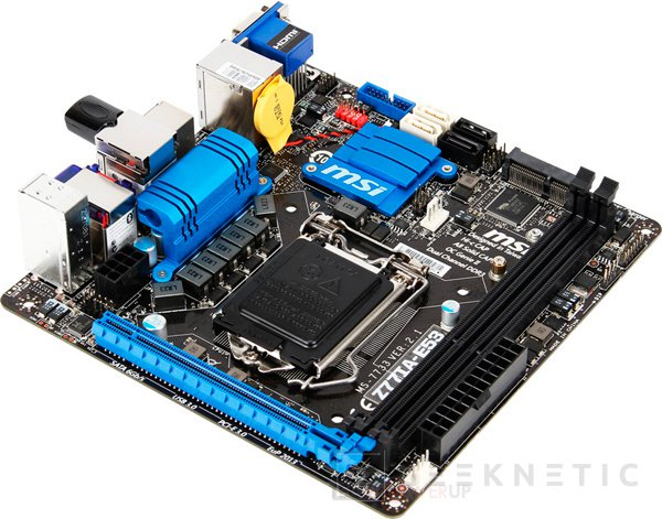 MSI lanza la placa base Mini-ITX Z77IA-E53, Imagen 1