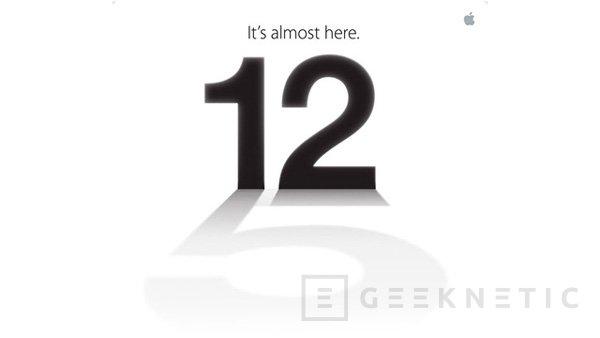 Apple mostrará el nuevo iPhone 5 el 12 de septiembre, Imagen 1