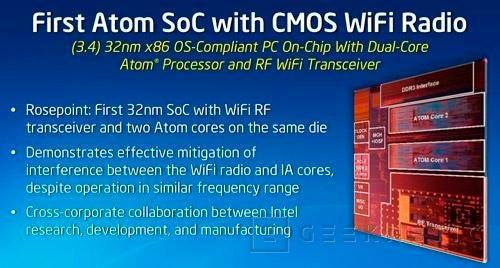 IDF 2012. Intel Rosepoint. CPU y WiFi en el mismo chip de bajo consumo, Imagen 1