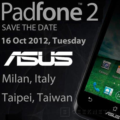 ASUS presentará el Padfone 2 en octubre, Imagen 1