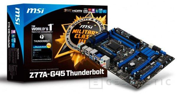 MSI anuncia la placa base Z77A-G45 con thunderbolt, Imagen 1