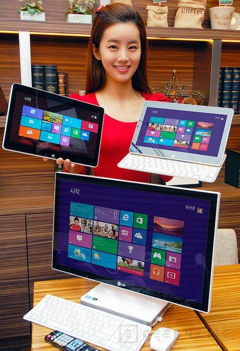 LG muestra un tablet y un