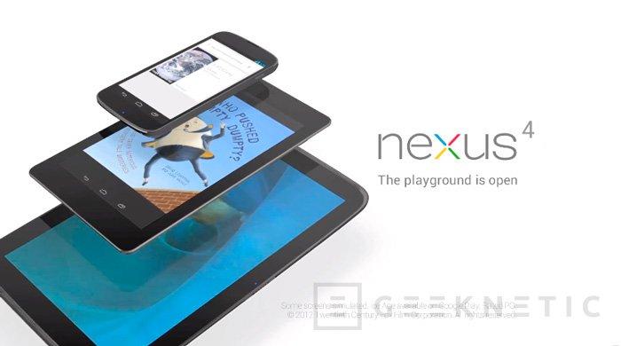LG Nexus 4 ya es oficial. El Nexus 10 también hace acto de presencia, Imagen 2
