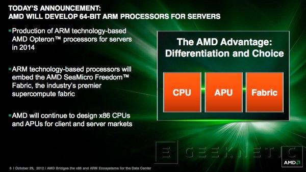 AMD fabricará procesadores ARM de 64 bits, Imagen 1