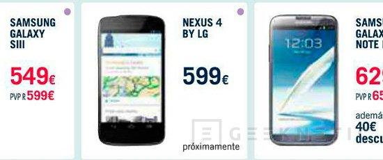 The Phone House retira el Nexus 4 de su catálogo, Imagen 1