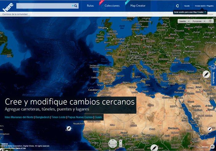 Nokia Here, servicio de mapas gratuito, Imagen 2
