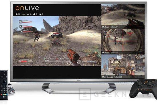 LG incluye el servicio de juegos Onlive en sus TV G2, Imagen 1