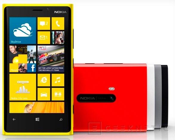 Nokia anuncia fechas y precios para los Lumia 920 y 820 en España, Imagen 1