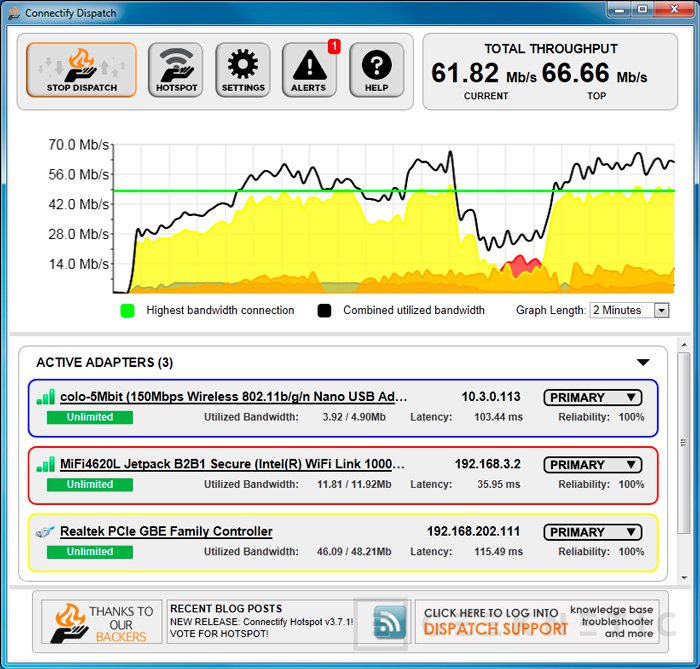 Connectify Dispatch, combina todas las conexiones disponibles en una sola, Imagen 1