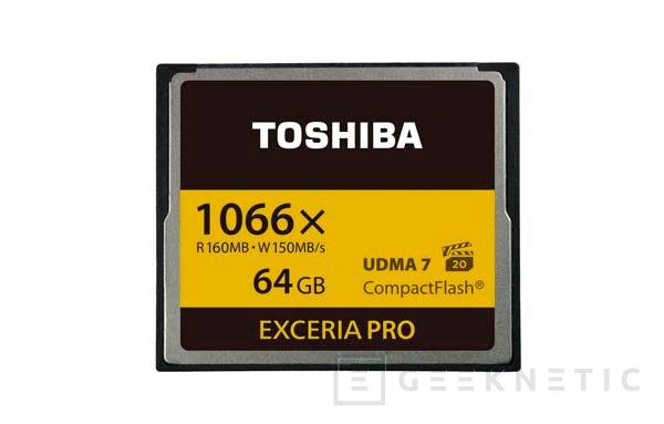 Toshiba anuncia las EXCERIA PRO 2, nuevos modelos de tarjetas CompactFlash, Imagen 1