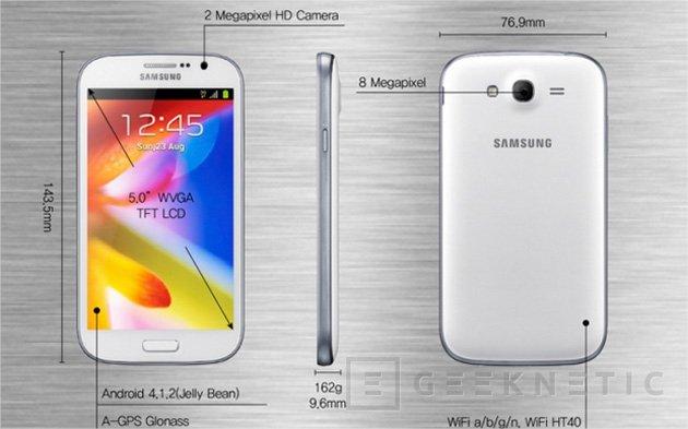 Samsung Galaxy Grand, las 5 pulgadas llegan a la gama media, Imagen 2